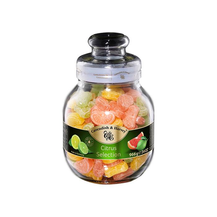 Cavendish & Harvey Citrus Selection Fruit Candy Jar, 966gm