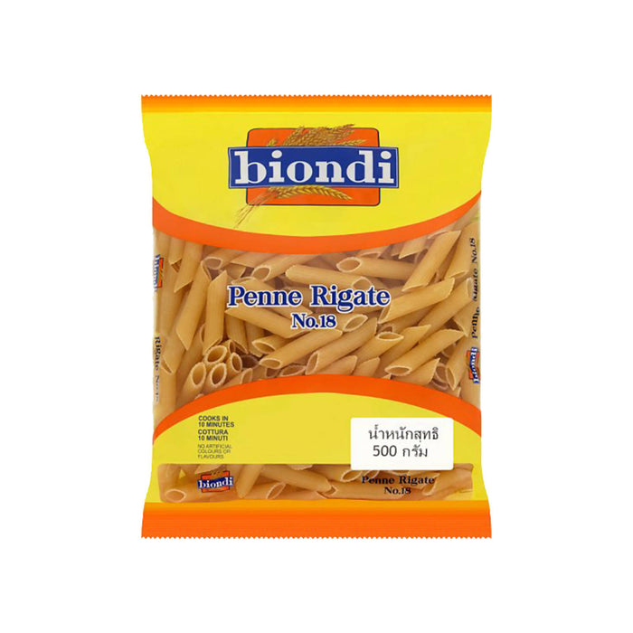 Biondi Penne Rigate No.18 500g, Pack of 2