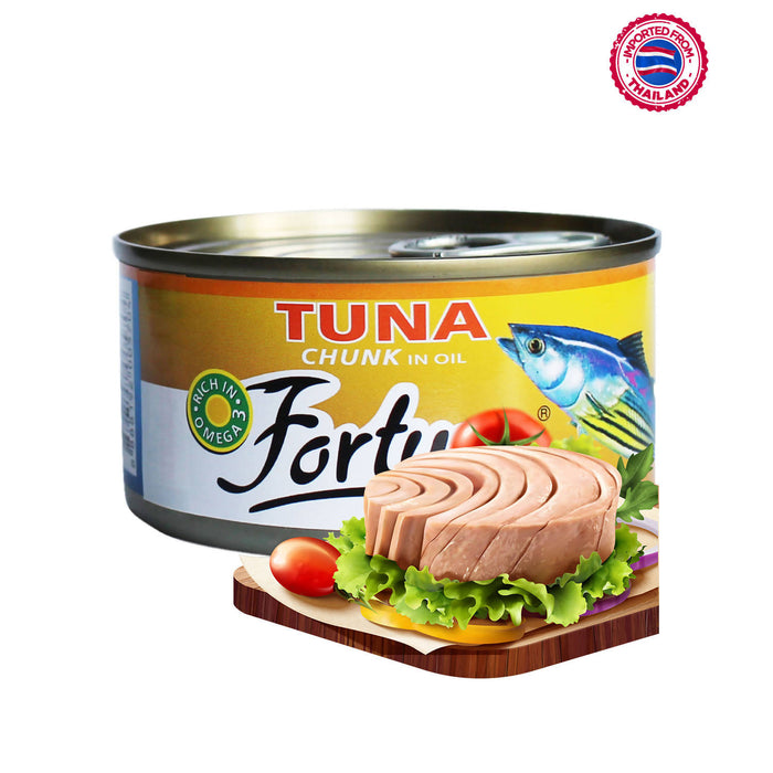 Fortune Tuna Chunk In Oil, 185g