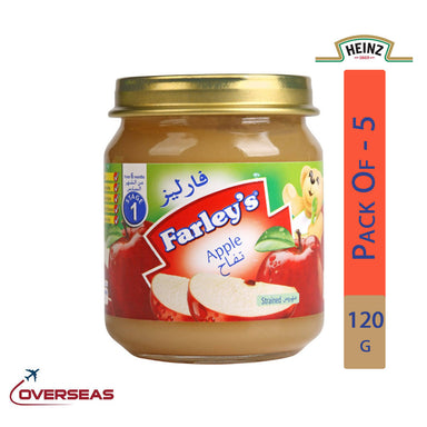 Heinz Farley's Apple Puree Jar, 120g - Pack Of 5