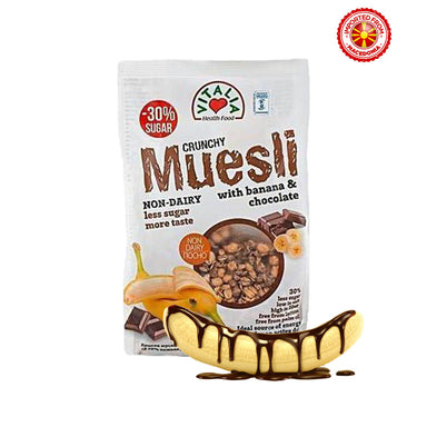 Vitalia Crunchy Muesli With Banana & Chocolate, 320g
