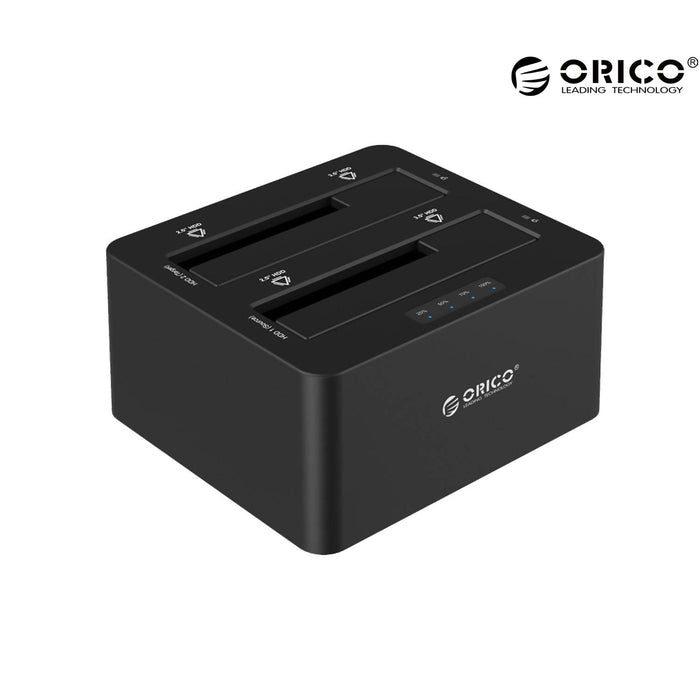 ORICO Dual Bay 2.5Inch-3.5Inch SATA USB 3.0 HDD Enclosure With Docking Station - 6629SUS3