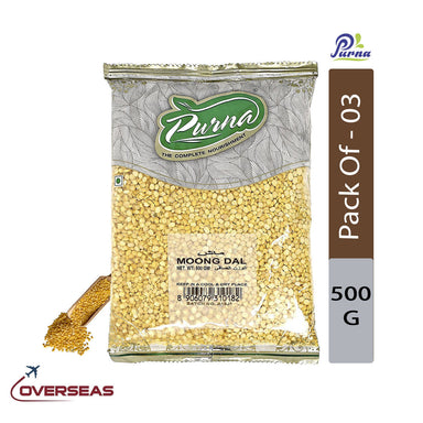 Purna Moong Dal, 500g - Pack Of 3