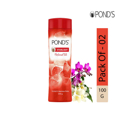POND'S Starlight Talcum Powder, 100g - Pack of 2