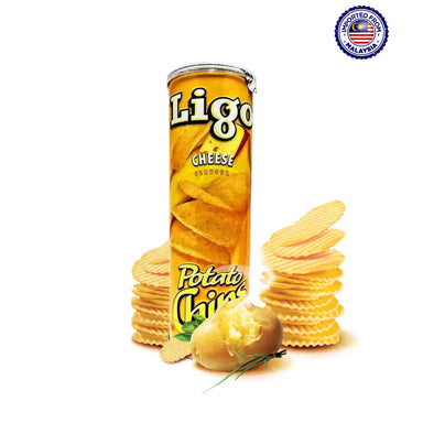 Ligo Potato Chips Cheese Flavor, 160g