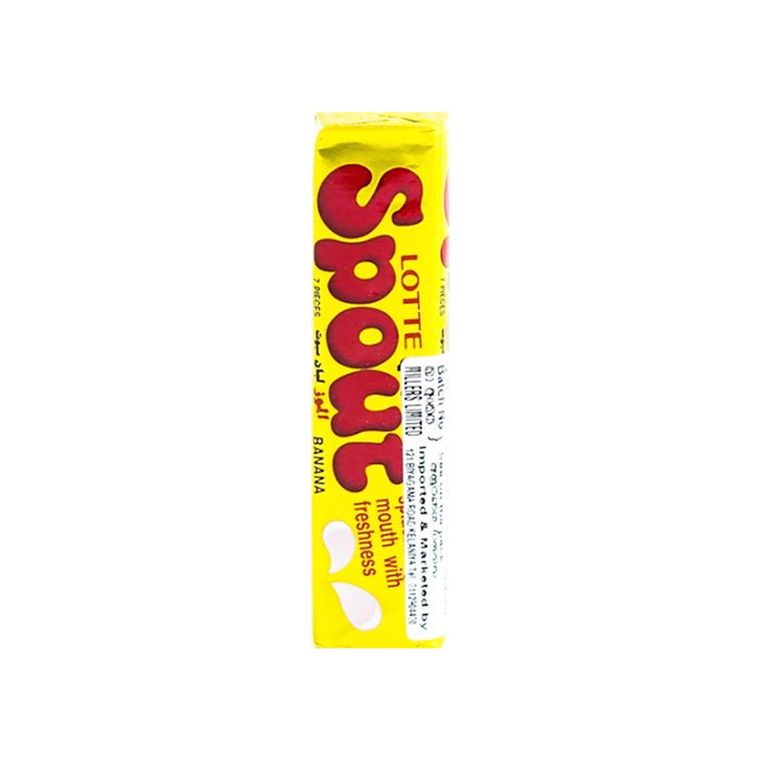 Lotte Spout Banana Gum 23.8g, Pack of 10