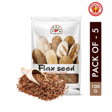 Vitalia Flax Seed Natural - 100g, Pack of 5