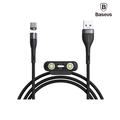 Baseus Zinc Magnetic Safe Fast Charging Data Cable USB To M+L+C - CA1T3-BG1