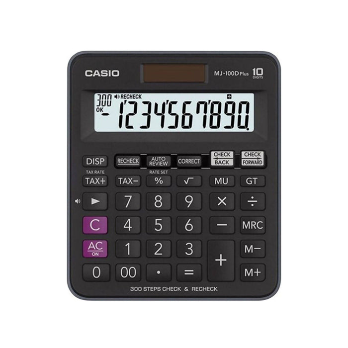 Casio Check And Recheck 300 Step Calculator, MJ-100D Plus