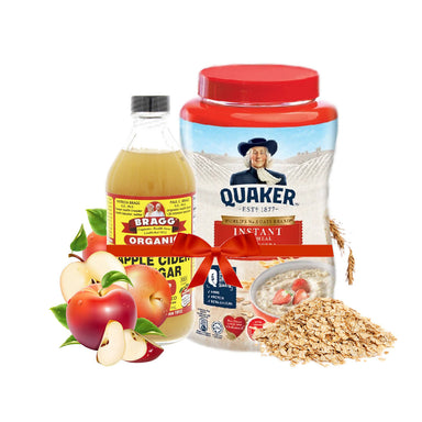 Bragg Organic Apple Cider Vinegar 473 ml + Quaker Instant Oatmeal Jar 1kg