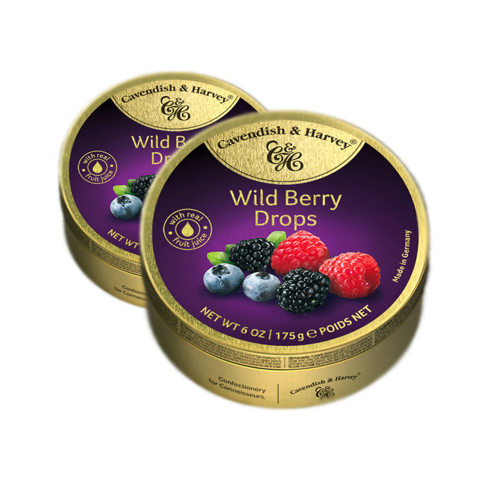 Cavendish & Harvey Wild Berry Drops Candy, 175g Pack Of 2