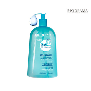 BIODERMA ABCDerm Moussant Mild Cleansing Foaming Gel, 1L