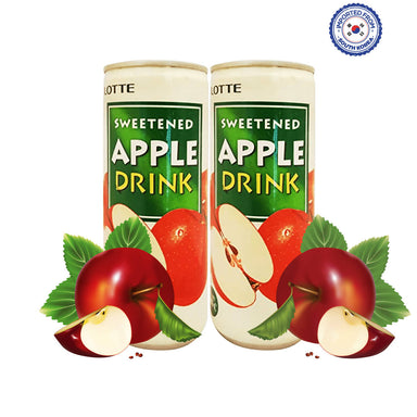 Lotte Sweetened Apple Drink 240ml, Pack of 2