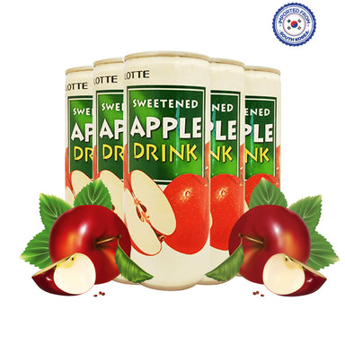 Lotte Sweetened Apple Drink 240ml, Pack of 5