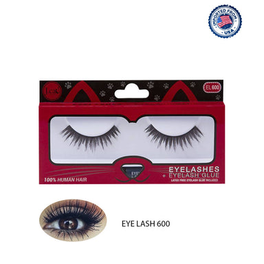 J.Cat Beauty Eyelashes+Eyelash Glue - EL600