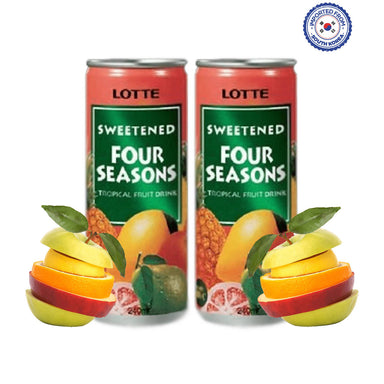 Lotte Sweetened Four Seasons Drink 240ml, Pack of 2