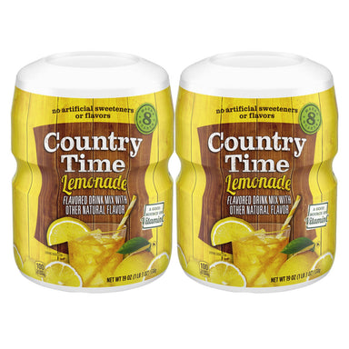 Country Time Lemonade Flavored Drink Mix 538g, Pack of 2