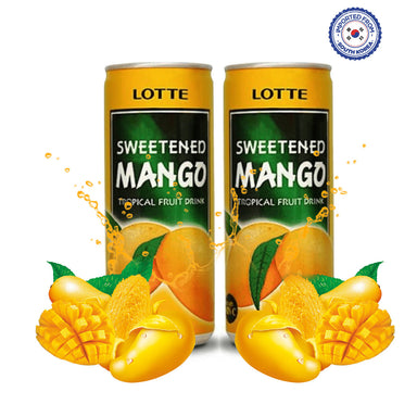 Lotte Sweetened Mango Drink 240ml, Pack of 2