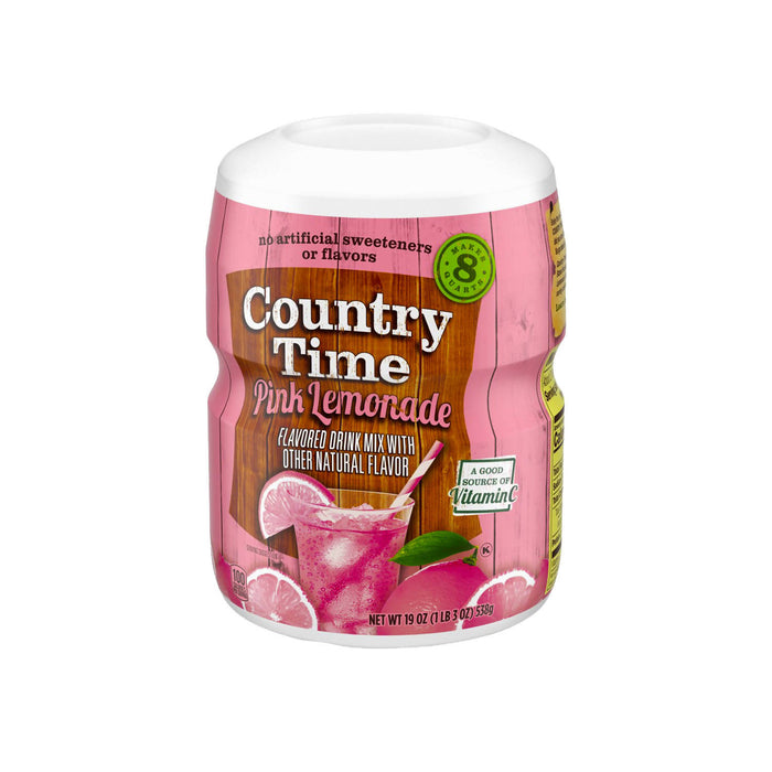 Country Time Pink Lemonade Drink Mix 538g, Pack of 2