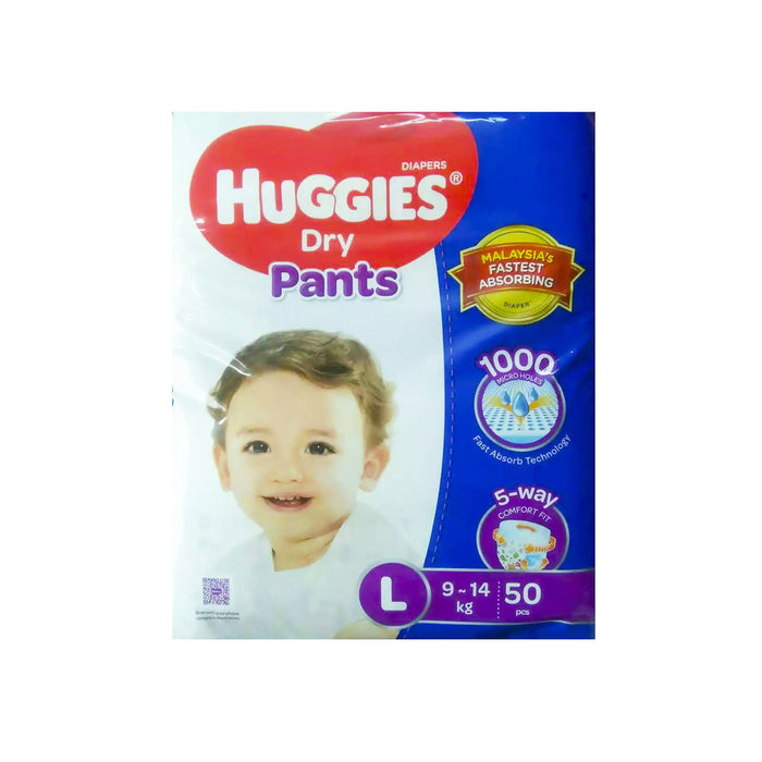 Huggies Dry Pants Baby Diaper Pant L 9-14 kg - 50pcs