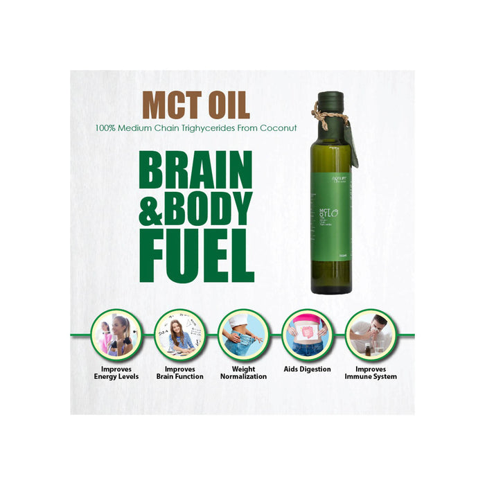 Agrilife New MCT oil (100% Medium chain Triglycerides) from Coconut, 250 ml