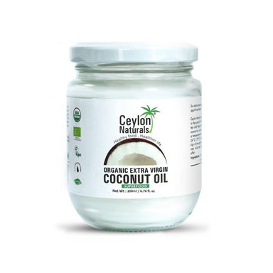 Ceylon Naturals Organic Extra Virgin Coconut Oil, 200 ml