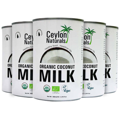 Ceylon Organic Coconut Milk, 400ml Pack Of 5