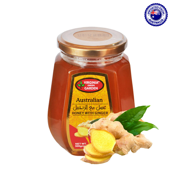 Virginia Green Garden Australian Honey With Ginger, 500g