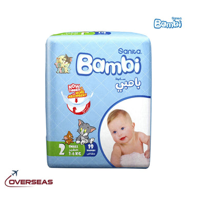 Sanita Bambi Baby Diapers Regular Pack 3-6 Kg, Size 2 S - 19pcs