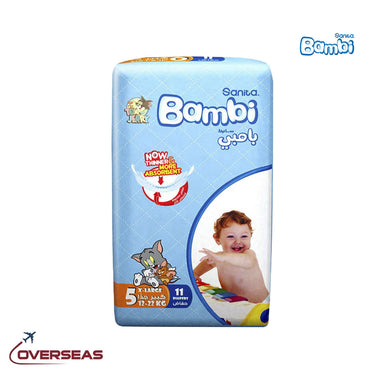 Sanita Bambi Baby Diapers Regular Pack 13-25 Kg, Size 5 XL - 11pcs