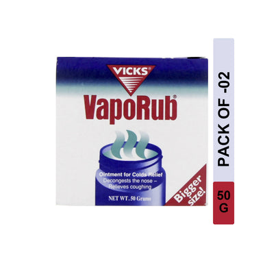 Vicks Vaporub 50g, Pack of 2