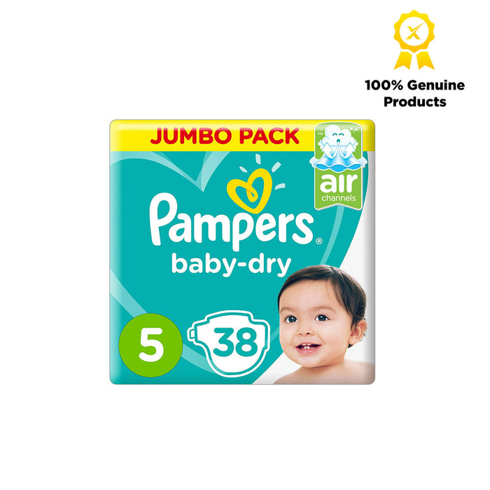 Pampers Baby-Dry Diapers, Size 5, Junior, 11-16kg, Jumbo Pack, 38pcs