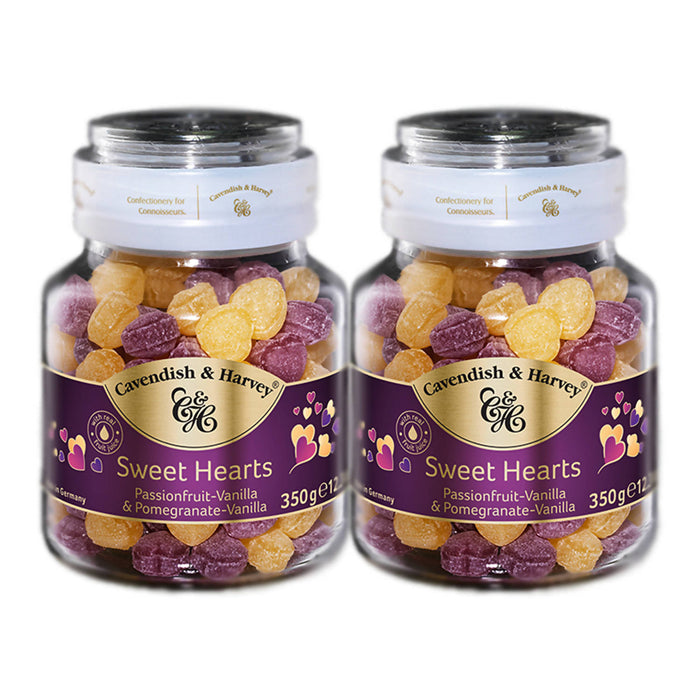 Cavendish & Harvey Sweet Hearts Passionfruit & Pomegranate Vanilla, 350g Pack Of 2