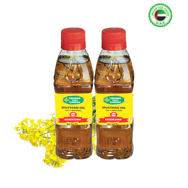 Virginia Green Garden Mustard Oil 500 ml, Pack of 2