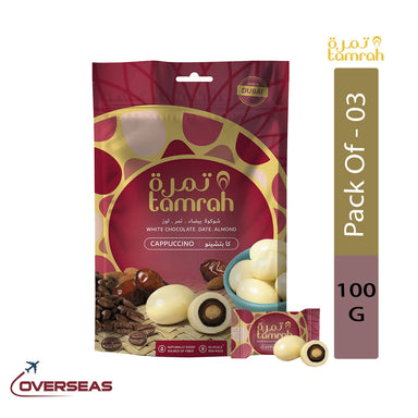 Tamrah Cappuccino Chocolate Zipper Bag, 100g - Pack Of 3
