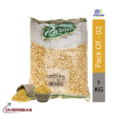 Purna Channa Dal, 1kg - Pack Of 2
