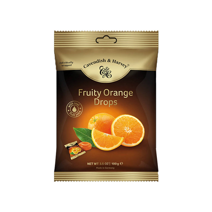 Cavendish & Harvey Fruity Orange Drops Individually Wrapped, 100g