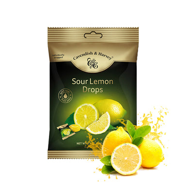 Cavendish & Harvey Sour Lemon Drops Individually Wrapped, 100g
