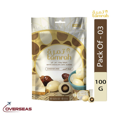 Tamrah Cheesecake Chocolate Zipper Bag, 100g - Pack Of 3
