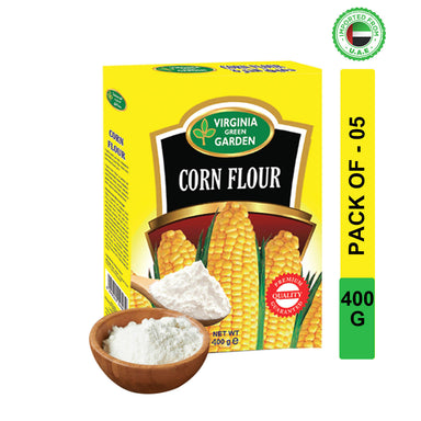 Virginia Green Garden Corn Flour 400g, Pack of 5