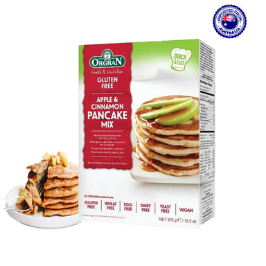 Orgran Gluten Free Apple & Cinnamon Pancake Mix, 375g