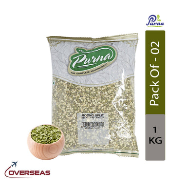 Purna Split Moong Dal, 1kg - Pack Of 2