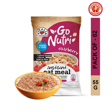 Vitalia Go Nutri Oatmeal With Raspberry 55g, Pack of 2