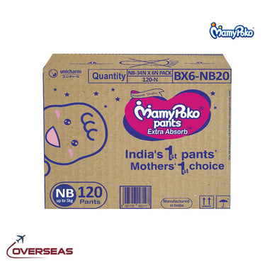 Mamypoko Diaper Pants Extra Absorb New Born upto 5 Kg, Size S - 120pcs