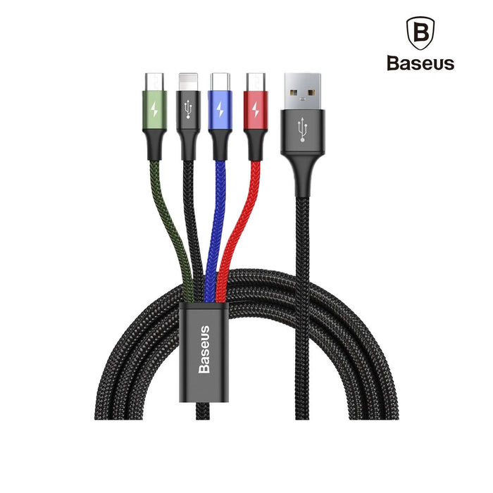 Baseus Fast 4-in-1 Cable For Lightning(2) + Type -C + Micro 3.5A