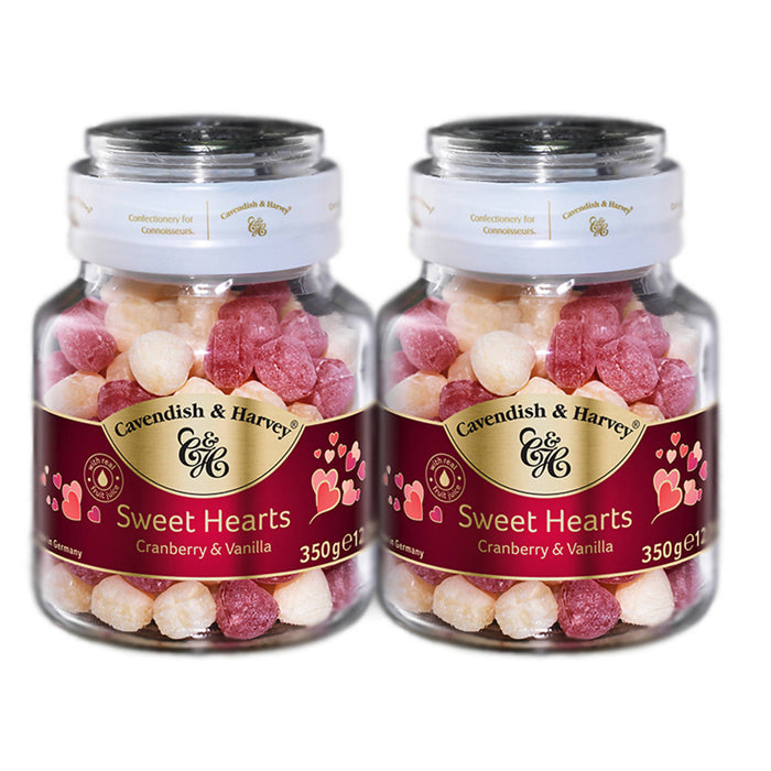 Cavendish & Harvey Sweet Hearts Cranberry & Vanilla, 350g Pack Of 2