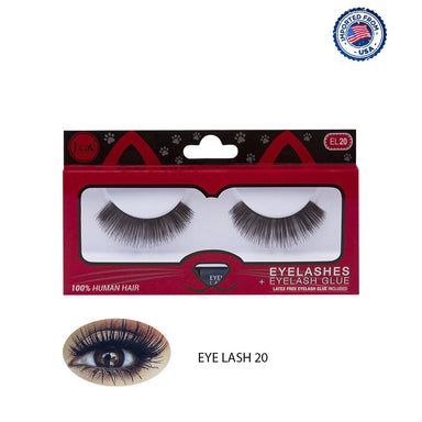 J.Cat Beauty Eyelashes+Eyelash Glue - EL20