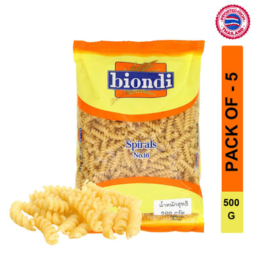 Biondi Spirals Pasta No.16 500g, Pack of 5