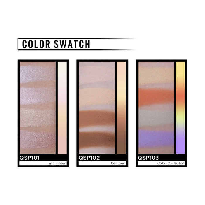 J.Cat Beauty Quad Spectrum Palette - Contour