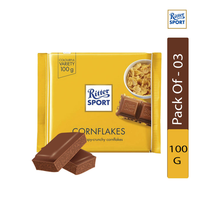 Ritter Sport Cornflakes, 100g - Pack of 3